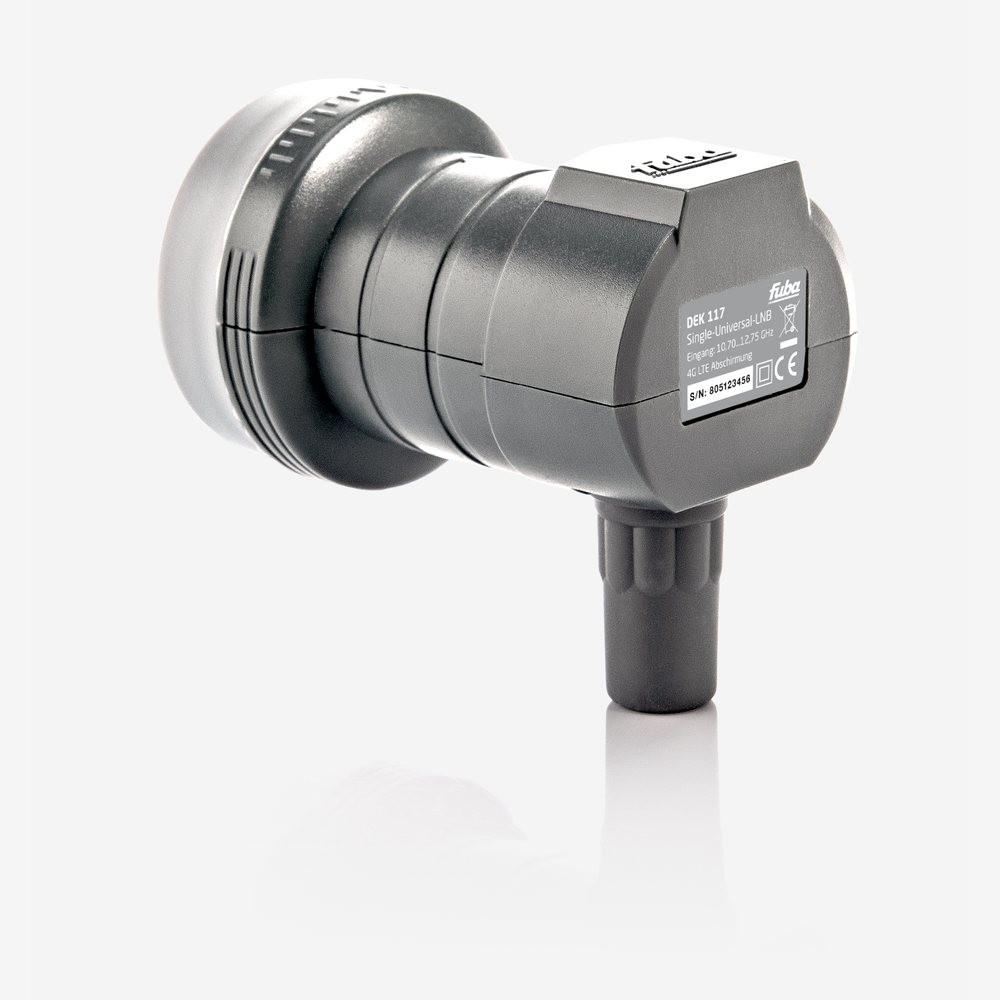 ausziehbar Fuba Single LNB LNC 1 Teilnehmer Direkt DEK 106 ✨ Full HD TV 3D 4K ■ Wetterschutz ■ 2 Vergoldete F-Stecker Gratis dazu von HB-DIGITAL